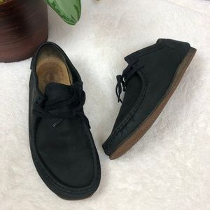 Clarks Originals Black Leather Wallabee Boots